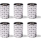 Zebra High-Performance Black Wax/Resin Ribbon for Industrial Thermal Transfer Printers 4.33 in Wide 1476 ft Long 1 in Core 6