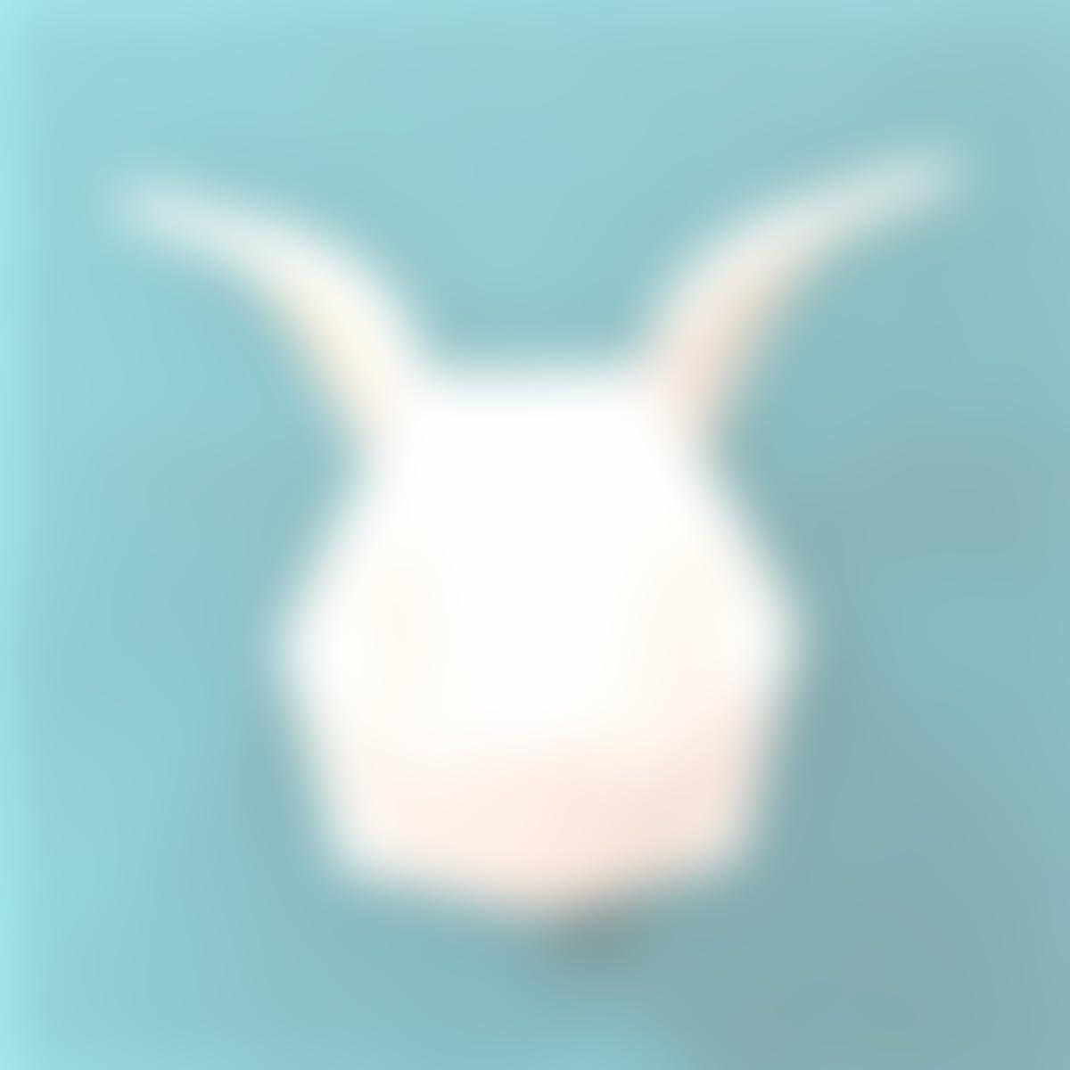 Cabeza decorativa personalizable de Conejo en estilo origami con imanes integrados y gancho, colores personalizados, con diseño exclusivo - liebre: ...