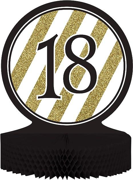 COOLMP Juego de 12 centros de Mesa de 18 años, Color Negro y ...