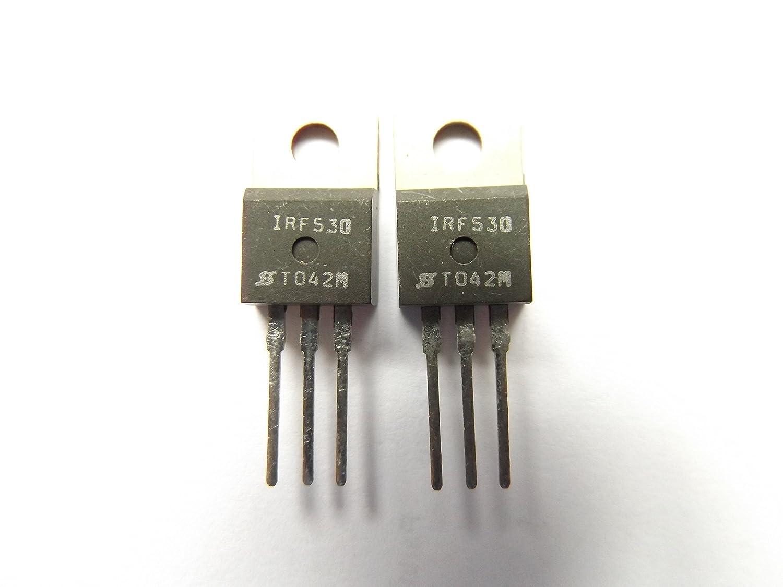 IRF530 Trans Mosfet N-Ch 100V 14A 3-Pin To-220Ab x2Pcs SS