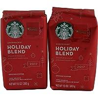 Starbucks 星巴克假日混合中号烘烤研磨咖啡,10 盎司袋(2 包)