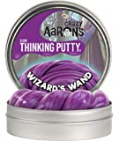 """Crazy Aaron's Thinking Putty 4"""" Tin - Wizard's Wand - Glow-in-The-Dark Putty, Soft Texture - Never Dries Out"""