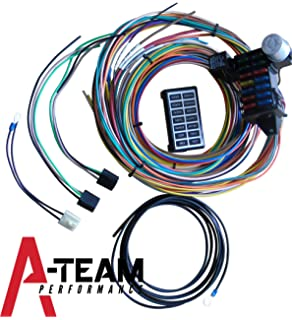 amazon com a team performance 8 circuit basic wire kit small a team performance 14 circuit basic wire kit small wiring harness rat street rod sand