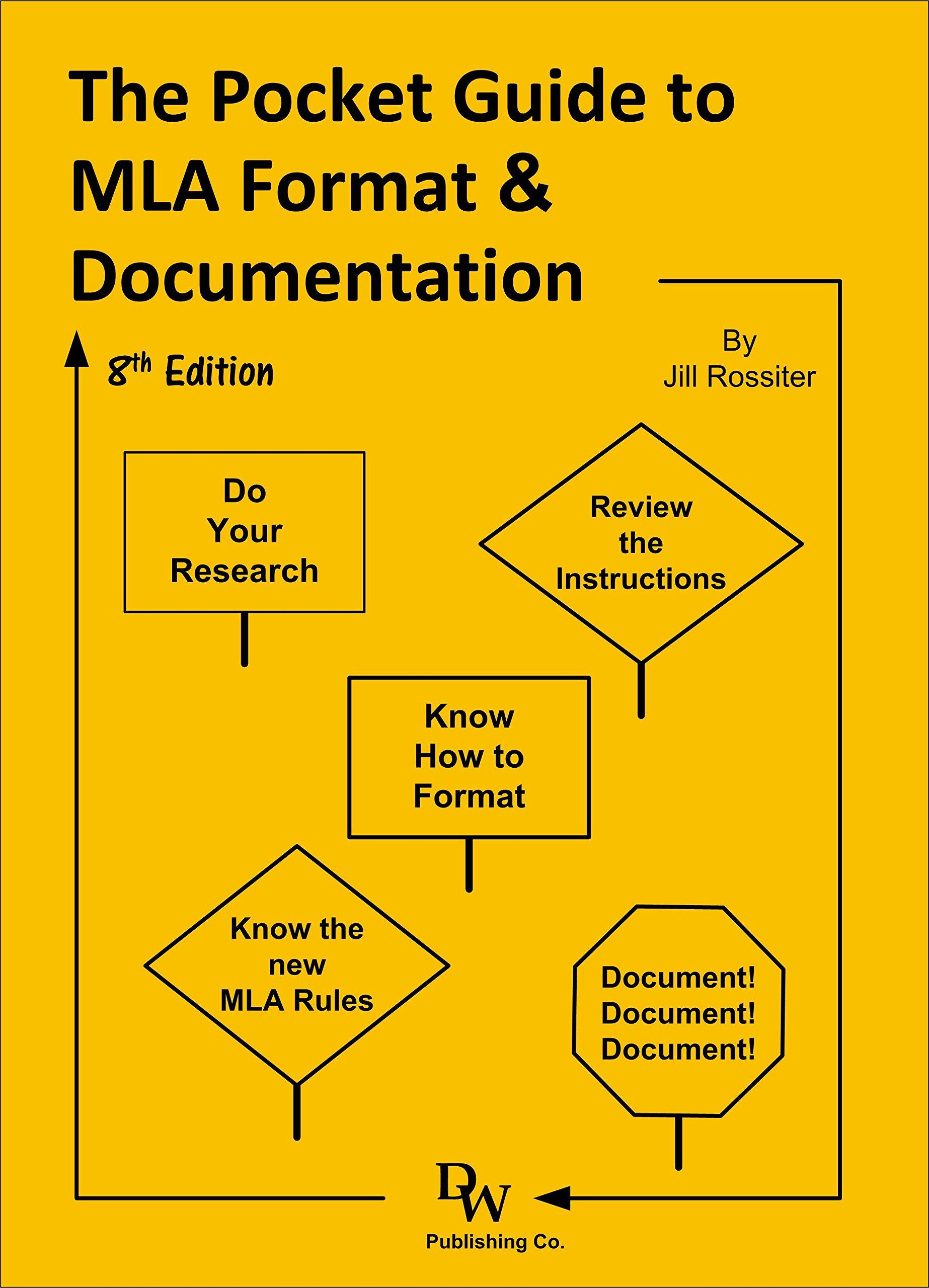 the pocket guide to mla format documentation jill rossiter