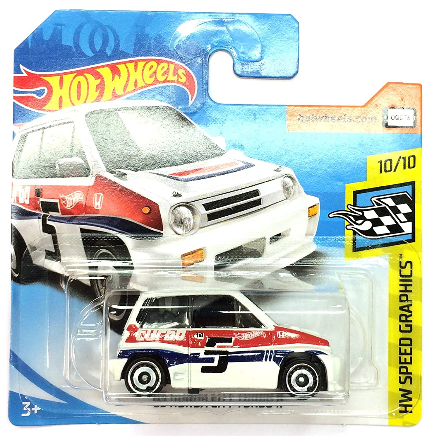 HW HotWheels FJV43 - 1985 Honda City Turbo II #5 blanco Speed Graphics 10/10: Amazon.es: Juguetes y juegos