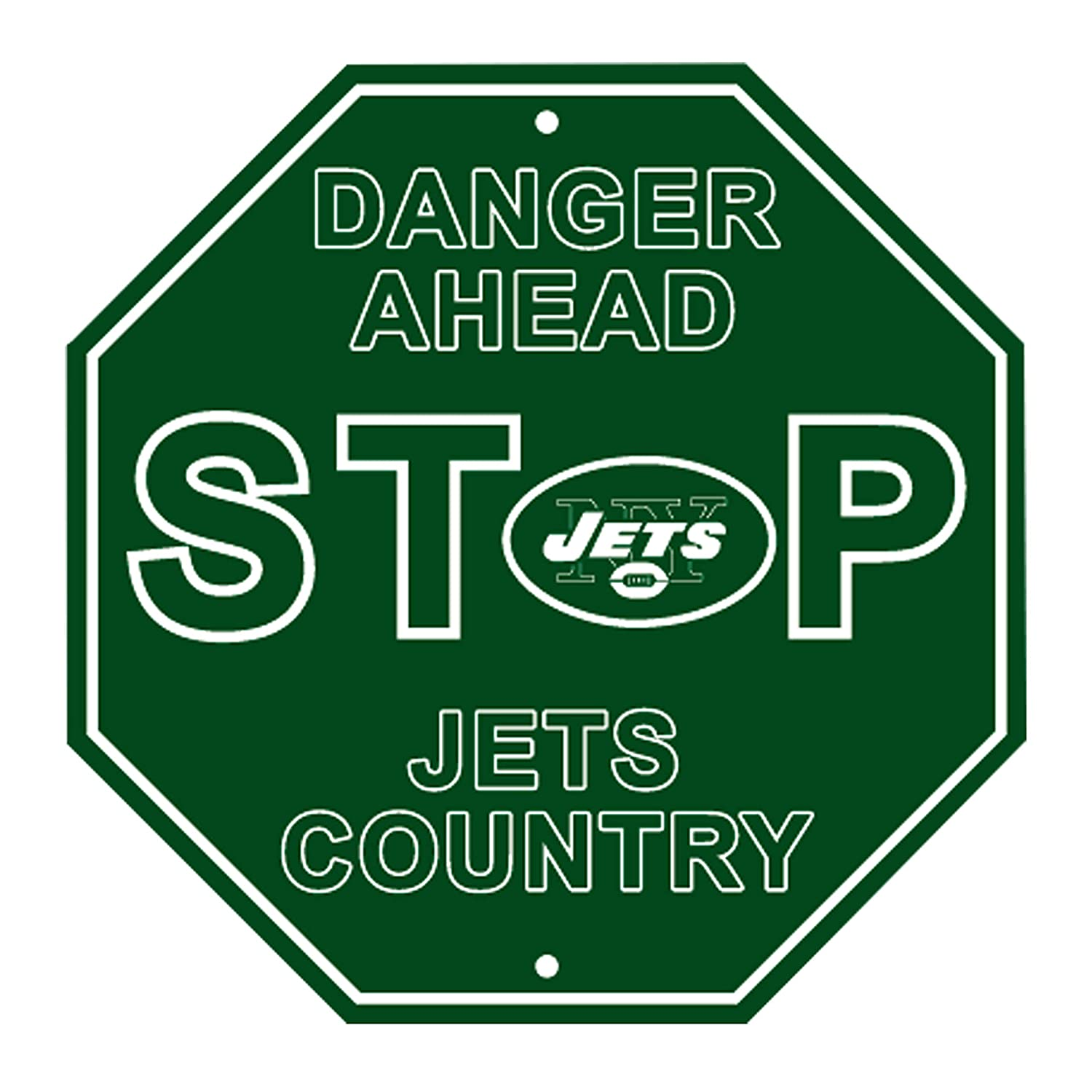 RongJ- store NFL Stop Sign Parking Sign 12 x 12 Danger Ahead for Fans