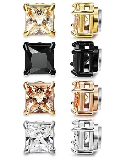 Amazon.com: Aretes de acero inoxidable LOYALLOOK para mujer ...