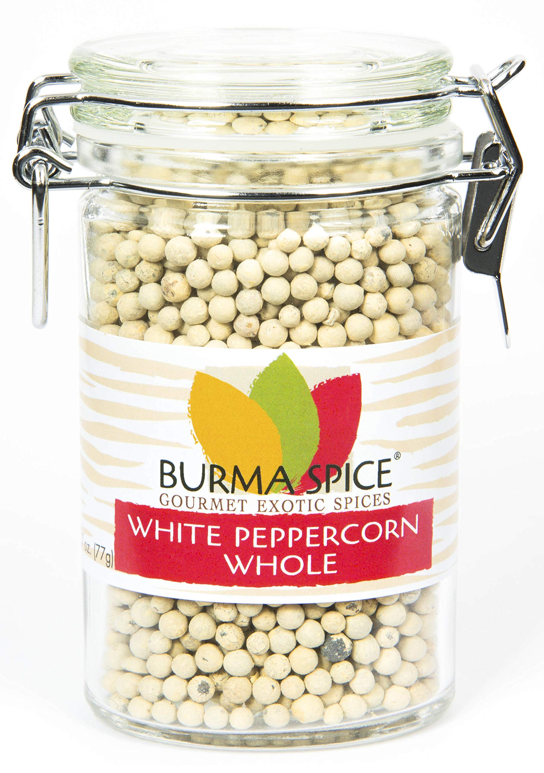 White Peppercorn : Whole : from the berry of the pepper plant, Piper Nigrum Kosher (2.5oz.)