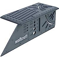 Wolfcraft 3D-verstekhoek I 5208000 I voor het bewerken van driedimensionale werkstukken I aanslagen voor 45°- en 90…