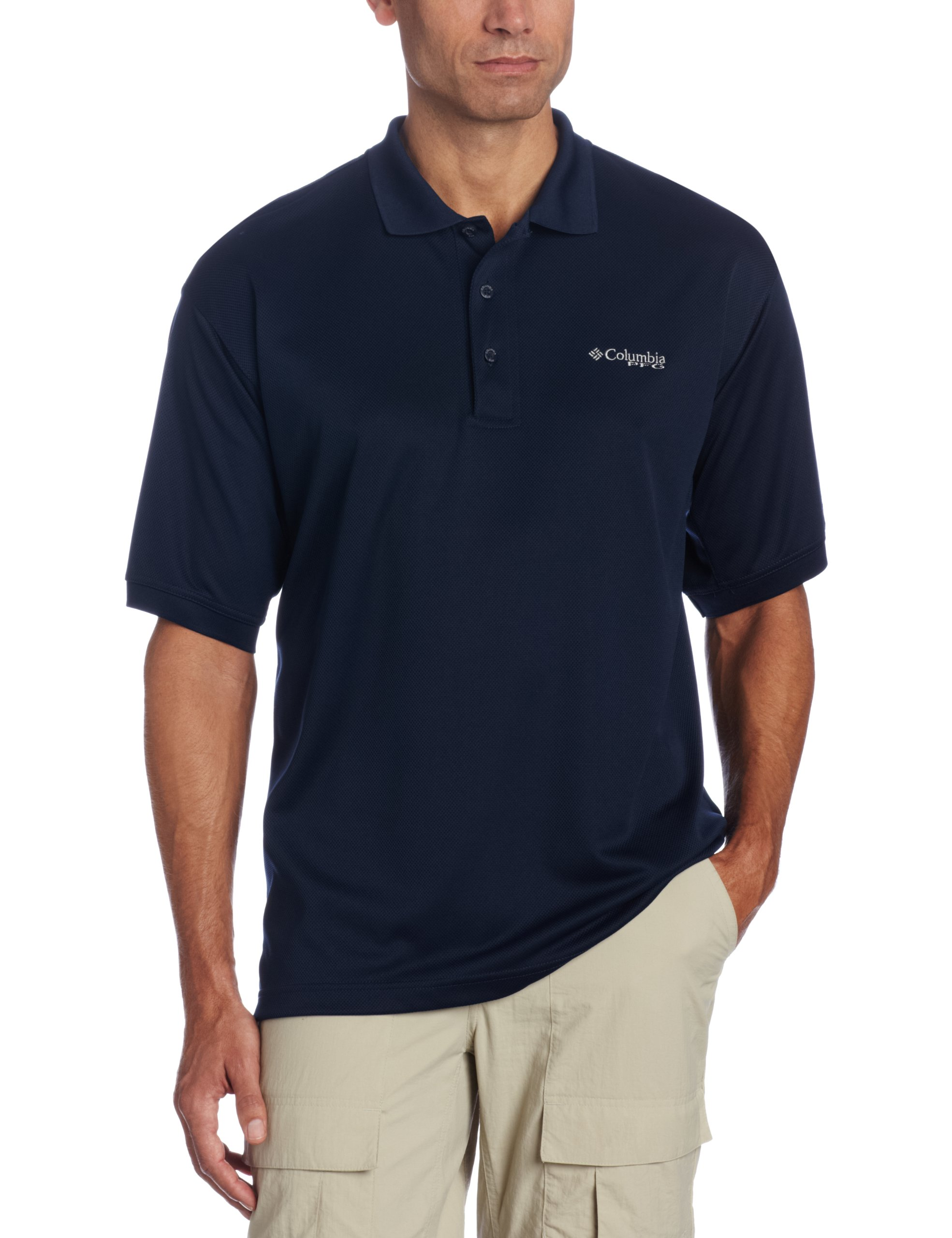 Columbia Men's Perfect Cast Polo, X-Large, Collegiate Navy