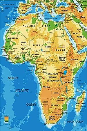 Postereck Poster 1043 Afrika Karte Laender Hauptstaedte In