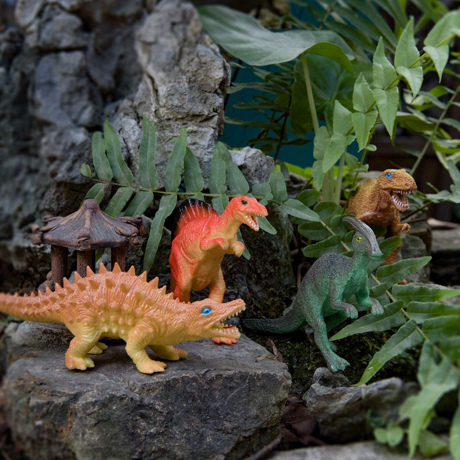 Peruser Realistic Looking Dinosaurs Pack of 12 Educational ...