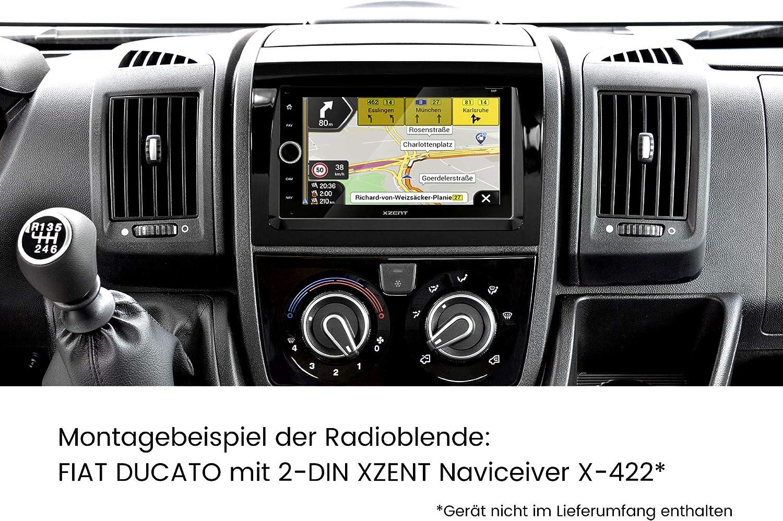 2 Din Doppel Din Einbauset Für Ducato Jumper Boxer Elektronik