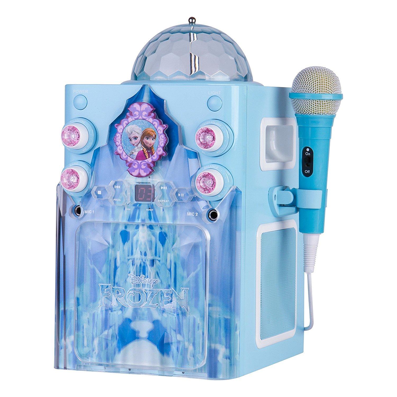 Sakar KO2-06027 Frozen Disco Ball Karaoke Machine Blue and White [並行輸入品] B06Y5FZDMJ