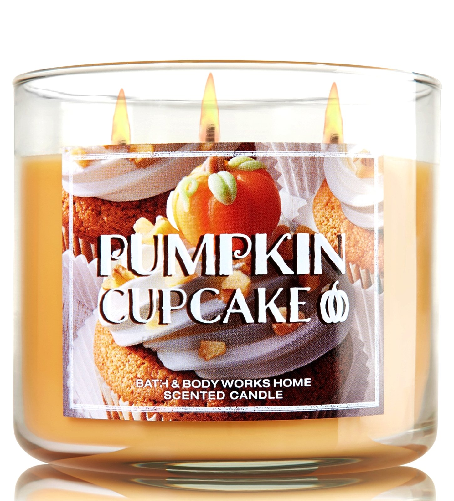 Bath & Body Works The Homemade Goodness Of Pumpkin Cupcake Scented 3 Wick 14.5 Ounce Candle by Bath and Body Works