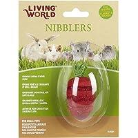 Living World Nibblers, Wood/Loofah Chews, Strawberry