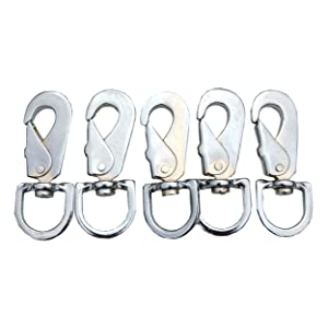 BQLZR 100Pieces 304 Stainless Steel Lanyard Clip Hook Buckle Clasp Snap 20mm