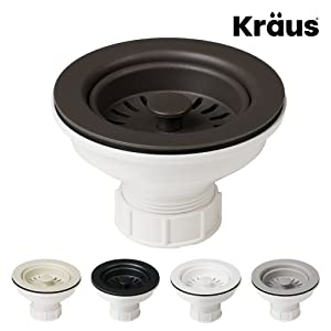 Kraus Kitchen Sink Strainer for 3.5-Inch Drain Openings in Brown