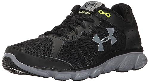 Under Armour Men s Freedom Assert 6 Sneaker Black (001) Steel 8 67b52abb7a4