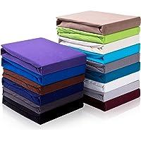 Topper hoeslaken hoeslaken tot 10 cm hoogte | bedlaken voor boxspringbed topper | 100% katoen Öko-Tex Standard | grijs…