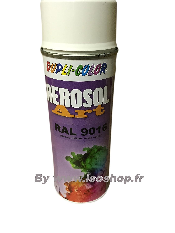 Dupli pittura Aerosol Tinta colore bianco traffico RAL 9016 Spray 400 ml Isoterm France