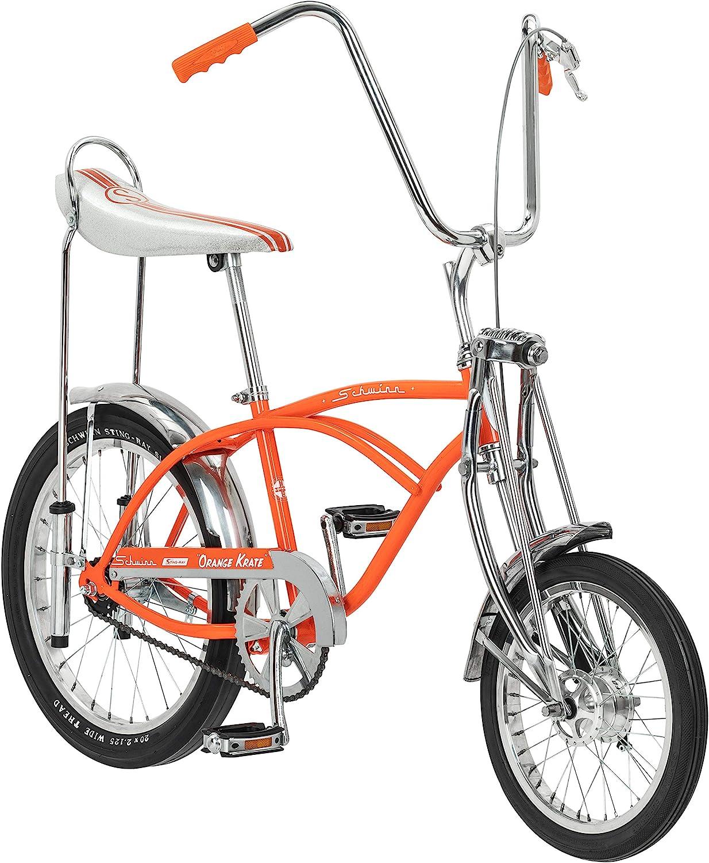 Schwinn Classic Old School Krate Bike, Ape Handlebar And Bucket Saddle, 20-Inch Wheels