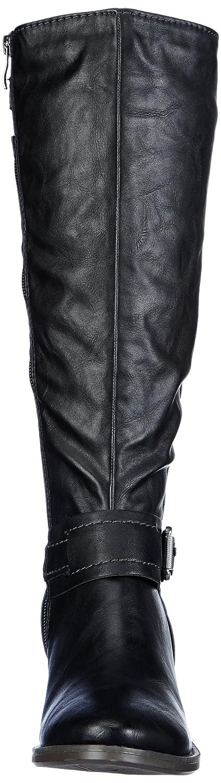 Marco Tozzi 2-2-25580-21 - Botas tacón, talla: 41, Color negro - Schwarz (BLACK ANTIC 002)