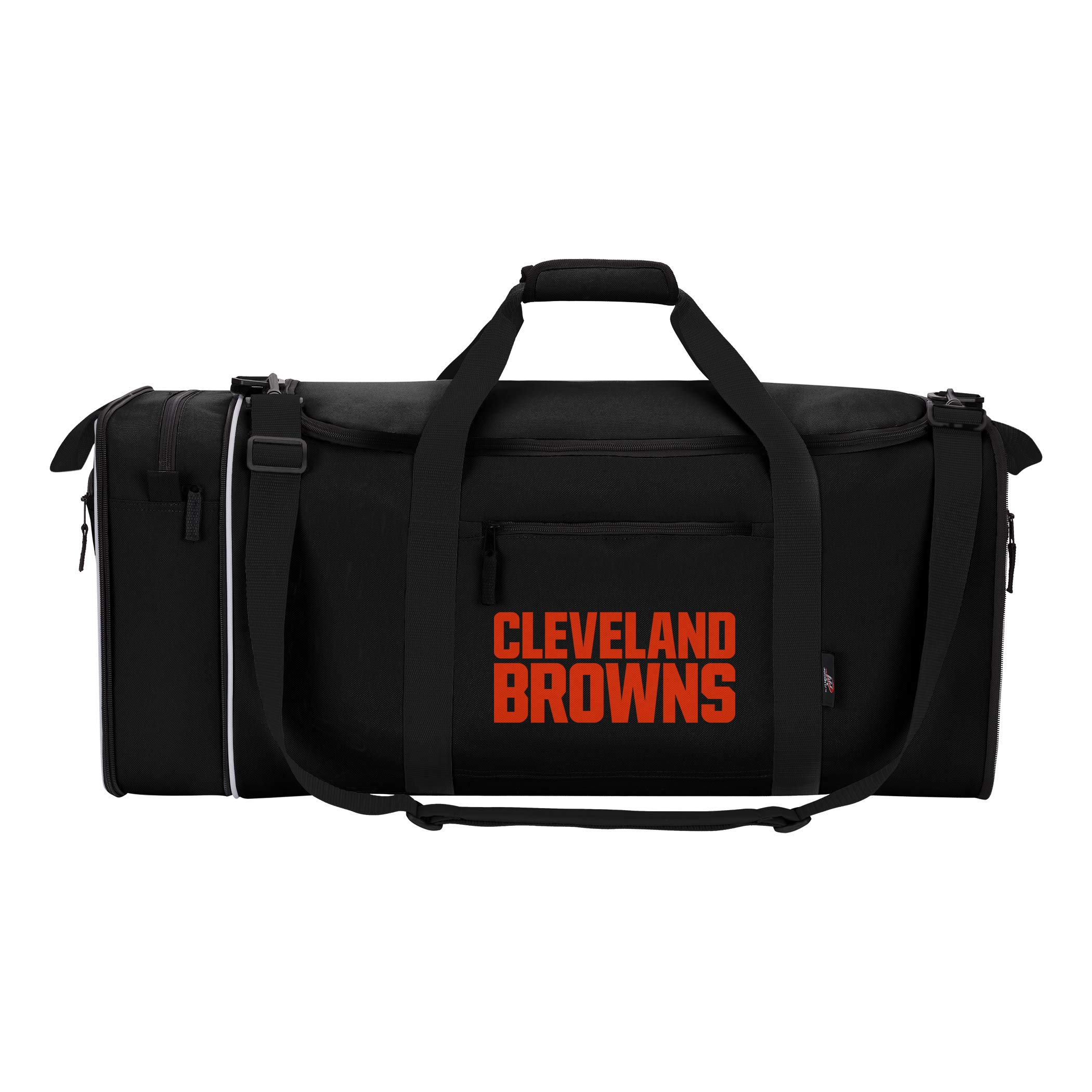 The Northwest Company NFL Cleveland Browns NFL Steal Duffel, Black, Measures 28'' in Length, 11'' in Width & 12'' in Height