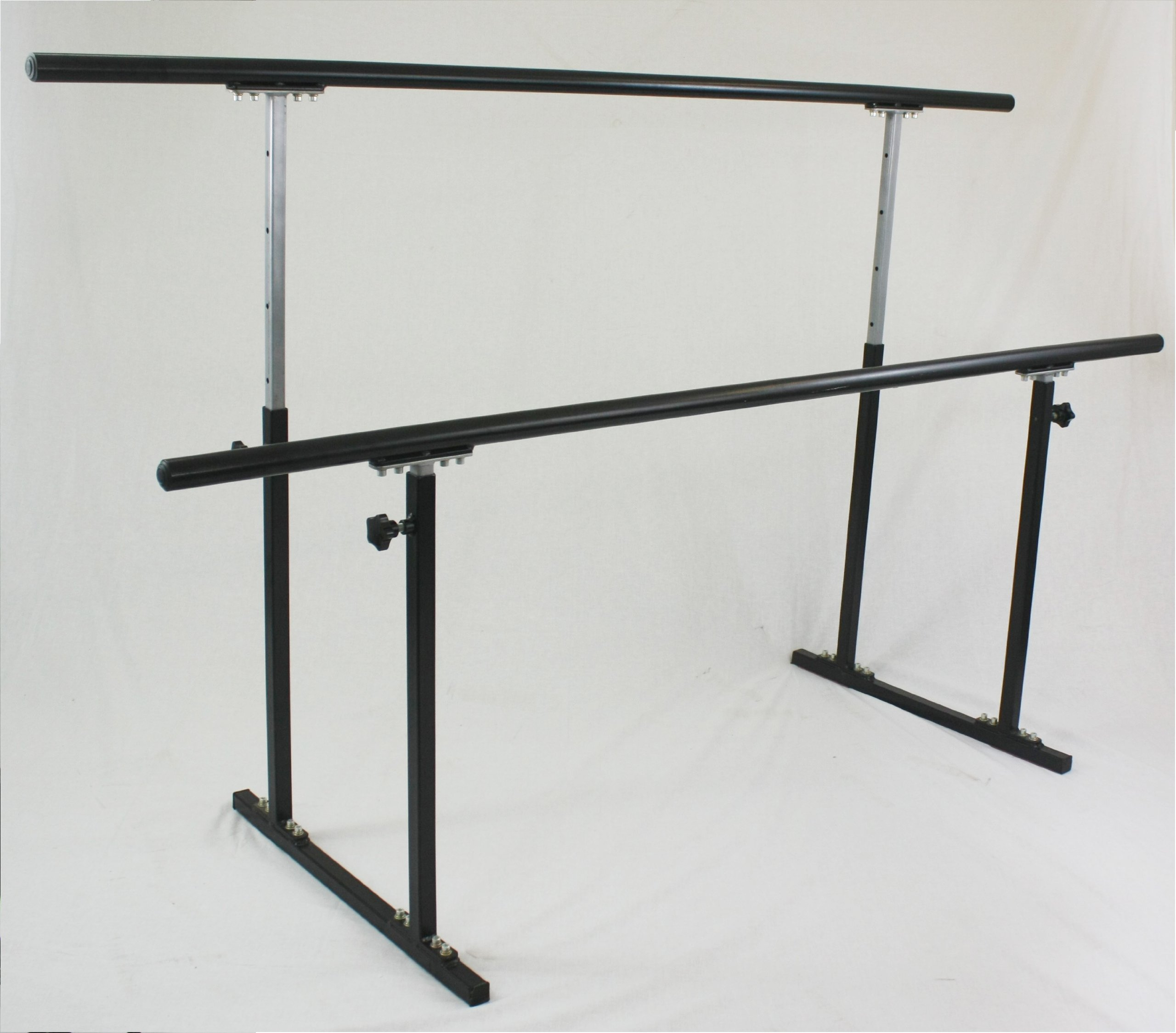 Softtouch Double Ballet Barre Stand 8ft Portable Dance Bar Adjustable 31''- 49'' Freestanding Stretch 96'' by SoftTouch