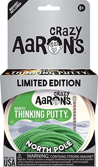 amazon com crazy aaron s thinking putty 3 2 ounce magnetic north