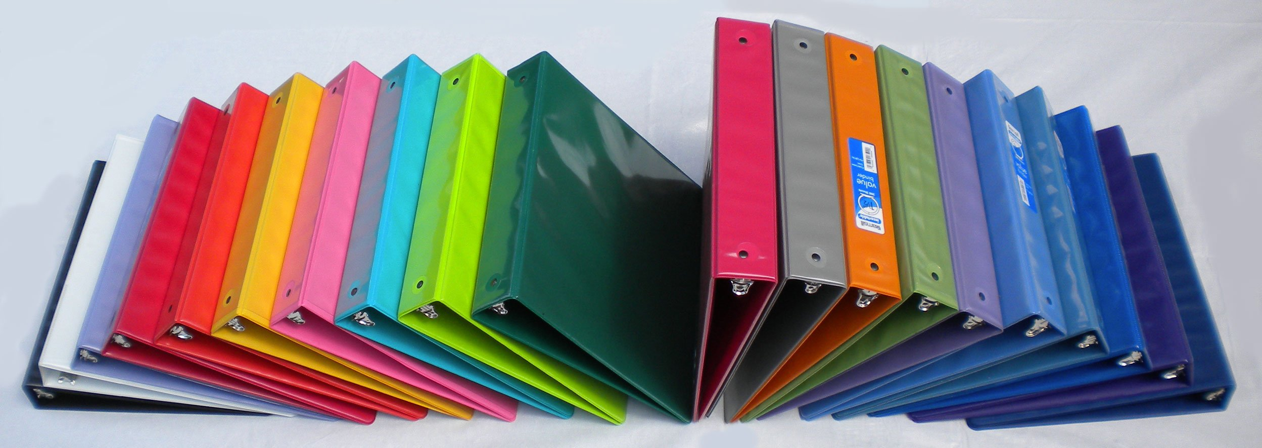 Assorted Colors 3-Ring Binders, 1.5 inch Capacity, 8.5 x 11, Case of 20