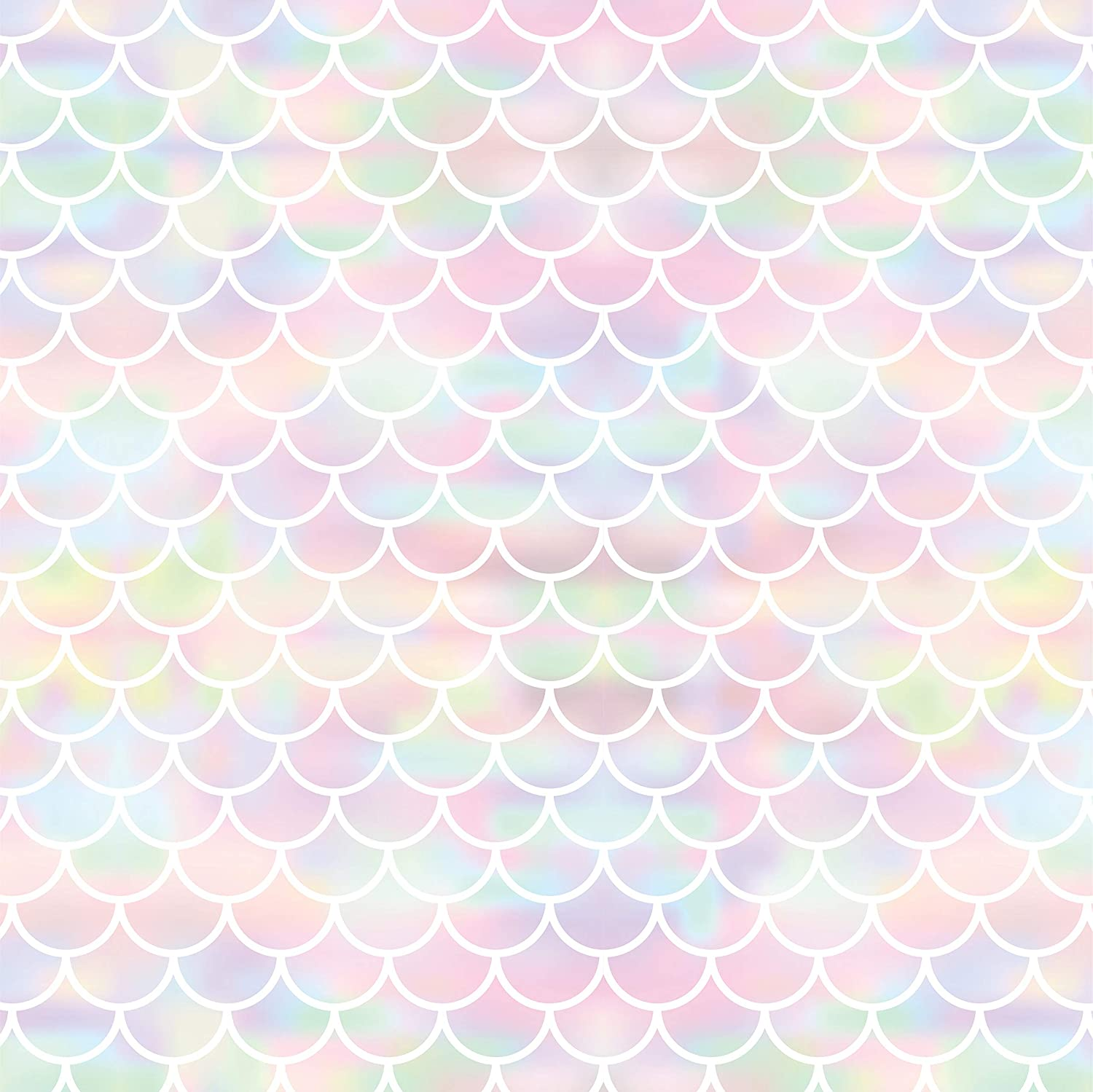 Mermaid Scale Gift Wrap Wrapping Paper - Folded Flat 30 x 20 Inch - 3 Sheets