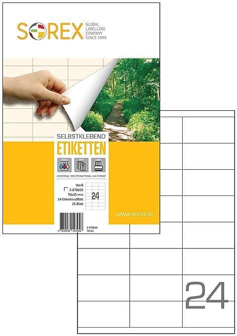 Amazon.com: SOREX 2-070035 - Etiquetas autoadhesivas para ...