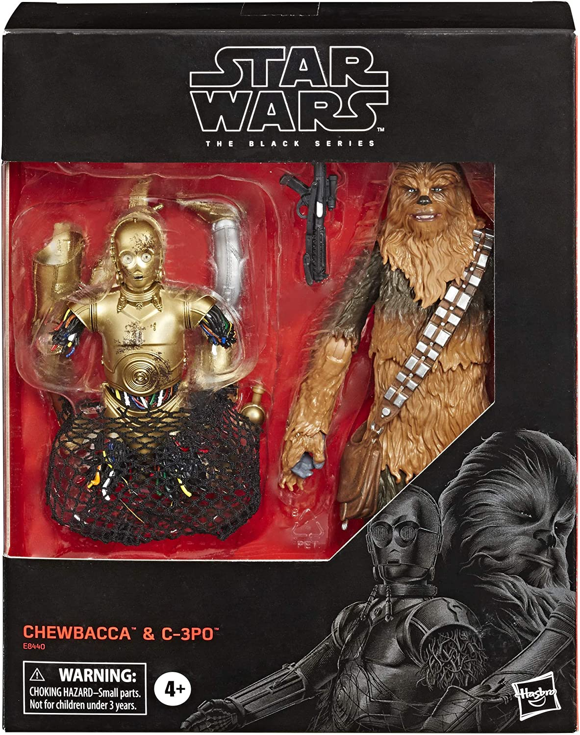 "Star Wars The Black Series Chewbacca & C-3PO Toys 6"" Scale The Empire Strikes Back Collectible Figures (Amazon Exclusive)"