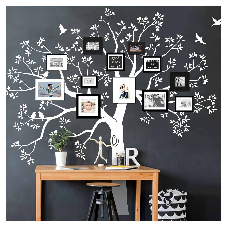 Grandora W5483 Wandtattoo XXL Baum I weiß (BxH) 165 165 165 x 160 cm I Flur Wohnzimmer Aufkleber Wandaufkleber selbstklebend Wandsticker B0753G48W6 Wandtattoos & Wandbilder 89fd03