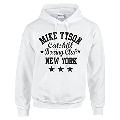 Mike Tyson Inspire Catskill Boxeo Club New York Sudadera con Capucha Sudadera con Capucha Negro Blanco XXX-Large: Amazon.es: Ropa y accesorios