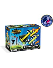 cd7cd4668 Stomp Rocket Stunt Planes - 3 Foam Plane Toys for Boys and Girls - Outdoor  Rocket