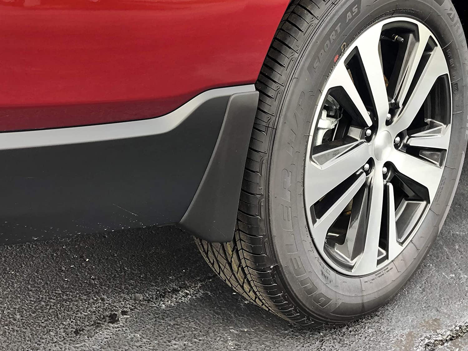 Red Hound Auto Compatible with Subaru Outback 2015-2019 Mud Flaps Splash Guards Front and Rear Molded 4pc Full Set