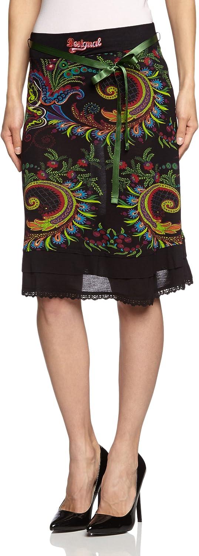 Desigual Mila, Falda para Mujer, Negro 40: Amazon.es: Ropa y ...
