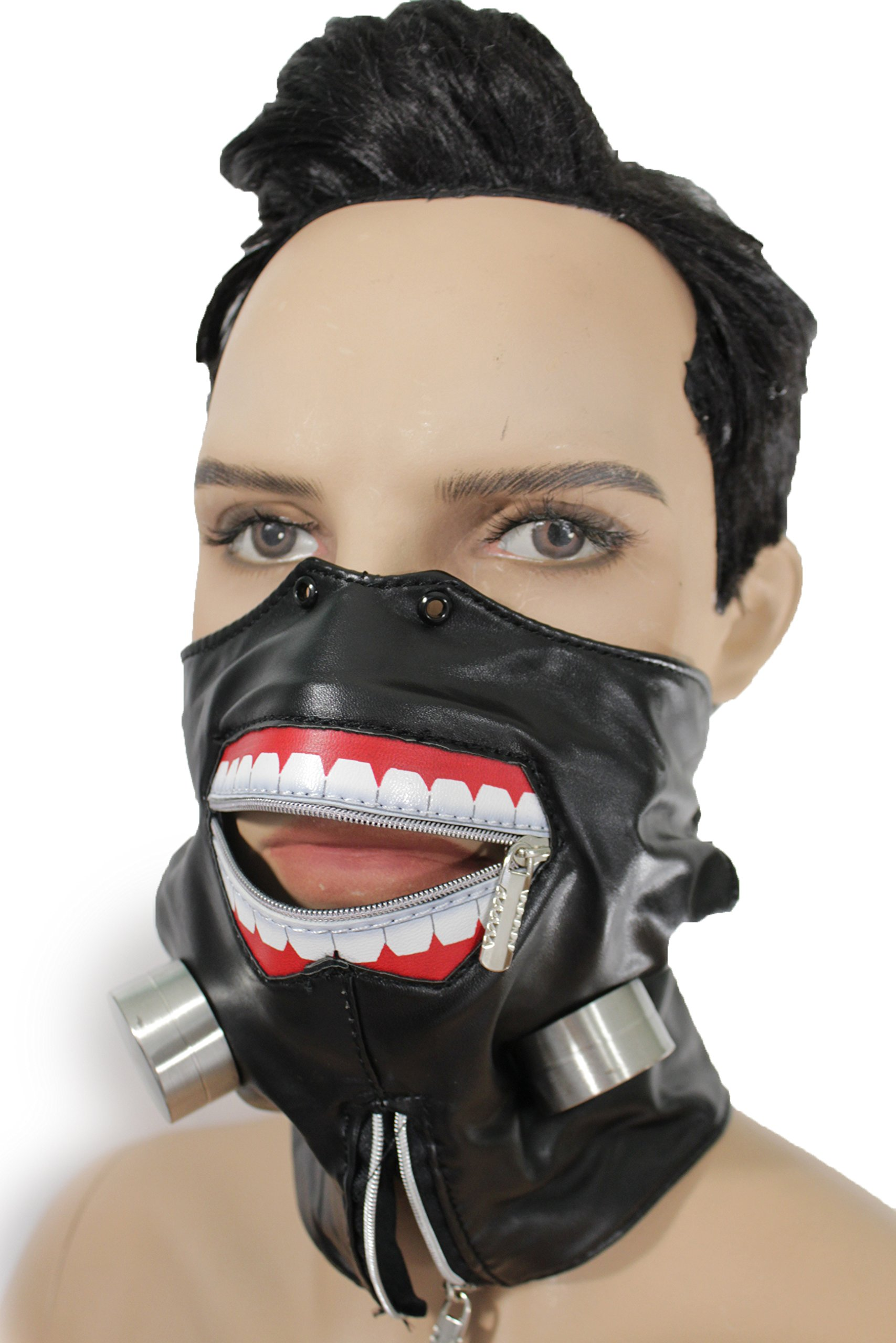 TFJ Men Mouth Half Face Muzzel Halloween Hannibal Biohazard Mask S&M Costume Black