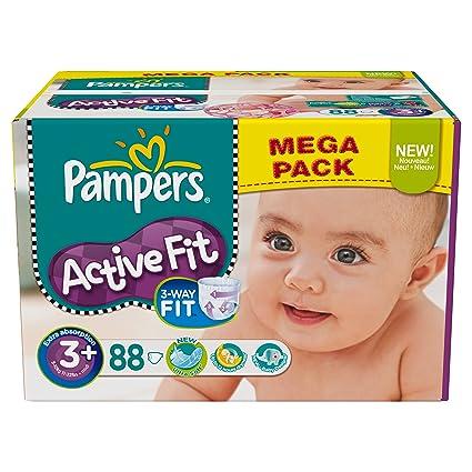 Pampers 81373238 - Paquete de pañales (talla 3+: 5-10 kg,