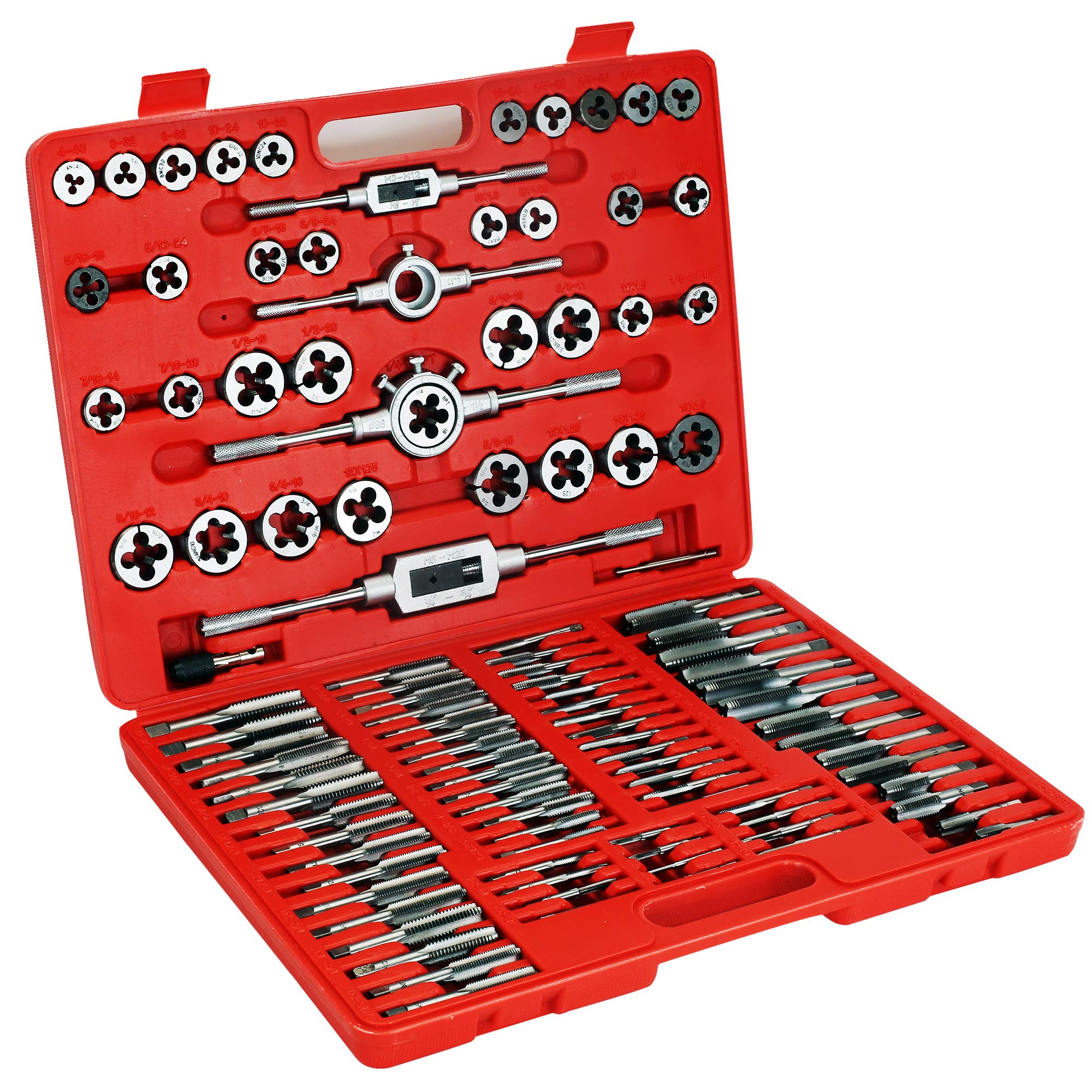 Zoostliss 110PCS Bearing Steel Sae and Metric Tap and Die Set by Zoostliss