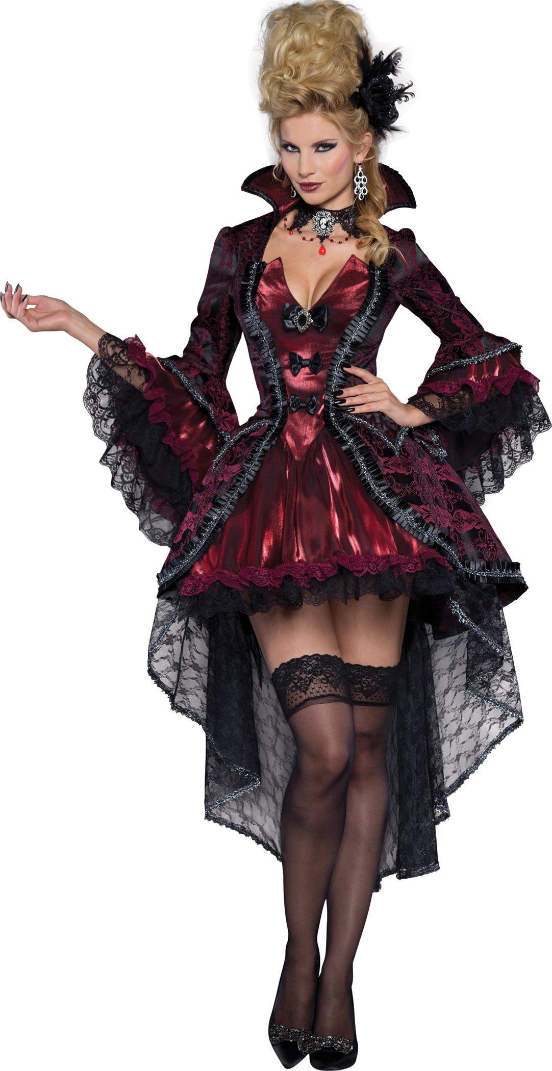 Fun World InCharacter Costumes Women's Victorian Vamp Vampiress Costume, Burgundy, Medium