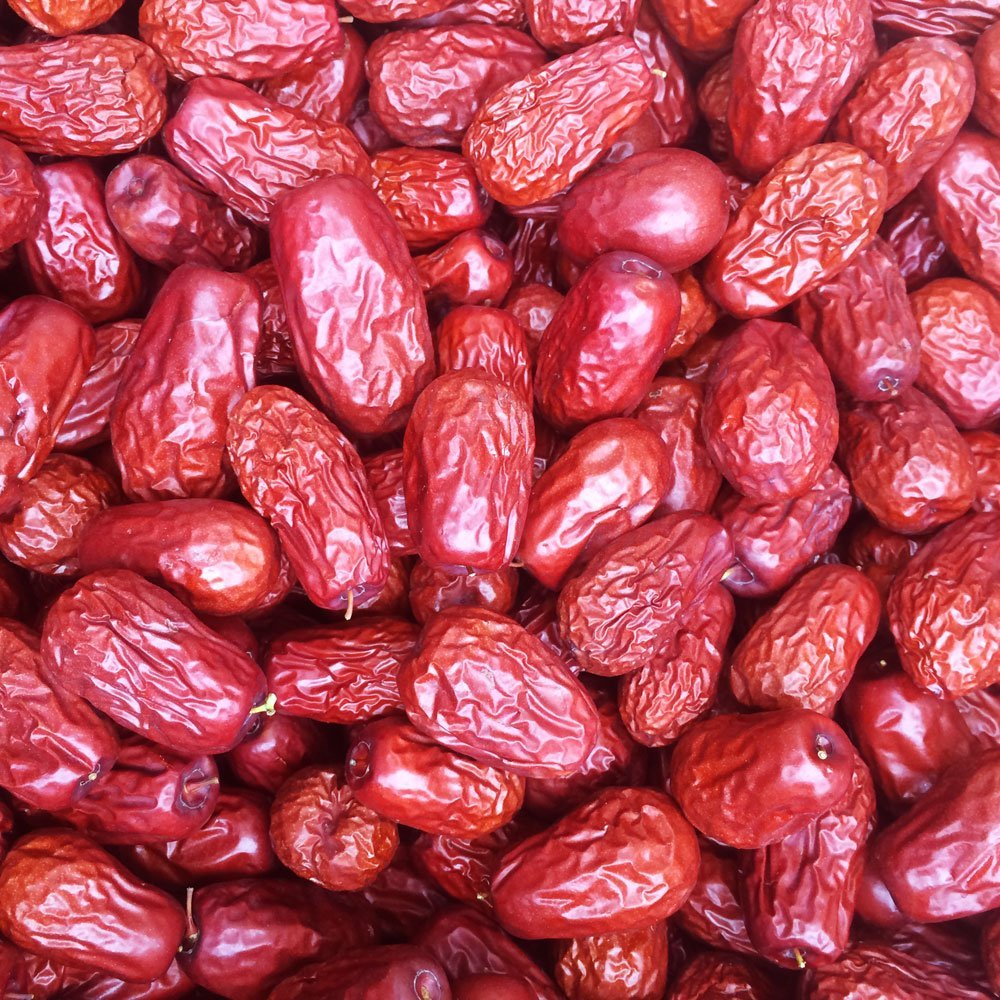 PowerNutri Shop 3 Pounds (48oz) ALL NATURAL GROWN ORGANICALLY Dried JUJUBE DATES,Dates, CHINESE DATES,US SELLER,Fresh and best quality guarantee,UNBEATABLE QUALITY AT THIS PRICE!! HAND SELECTED by PowerNutri Shop (Image #1)