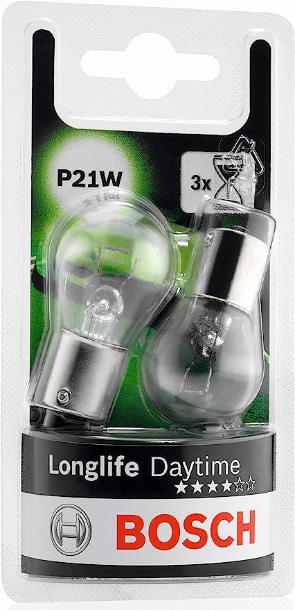 Bosch 1987301050 Autolampe P21w Longlife Stopp Blinklicht Schluss Kennzeichenlampe Auto