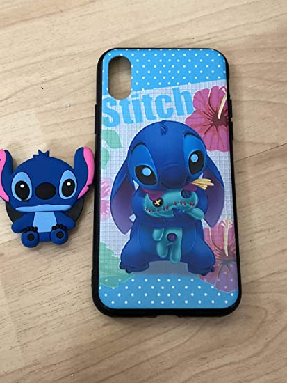 size 40 8a97a b3faa Stitch PopSocket TPU Stand Holder Case For iPhone X/XS Ship From NY