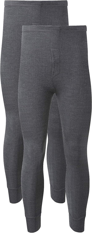 taglia S M L XL XXL Thermals Heatwave/® Confezione da 2 pantaloni termici da uomo