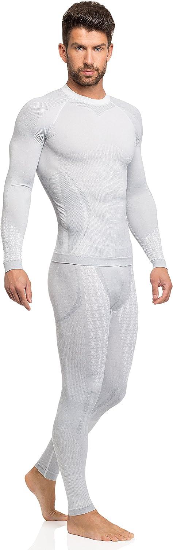 Ladeheid T-Shirt Thermique Manche Longue sous-v/êtement Homme 05 21