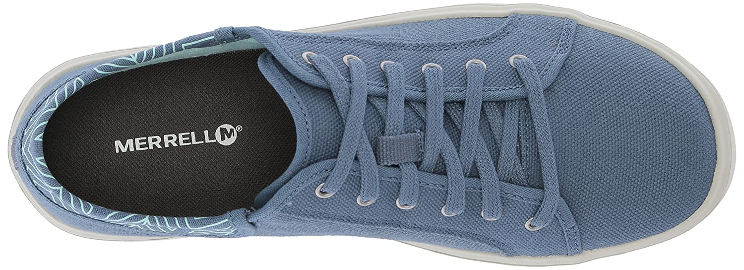 Merrell Women's Around Town City Lace Canvas Sneaker B071FNYCJ9 8.5 B(M) US|Bering Sea