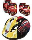 Disney STAMP CARS - K892507 - Vélo et Véhicule pour Enfant - Set: Casque + Coudières + Genouillères - Cars
